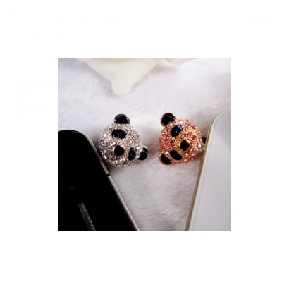 accessoire bijoux smartphone panda or rose et cristal animaux blue pearls. Black Bedroom Furniture Sets. Home Design Ideas