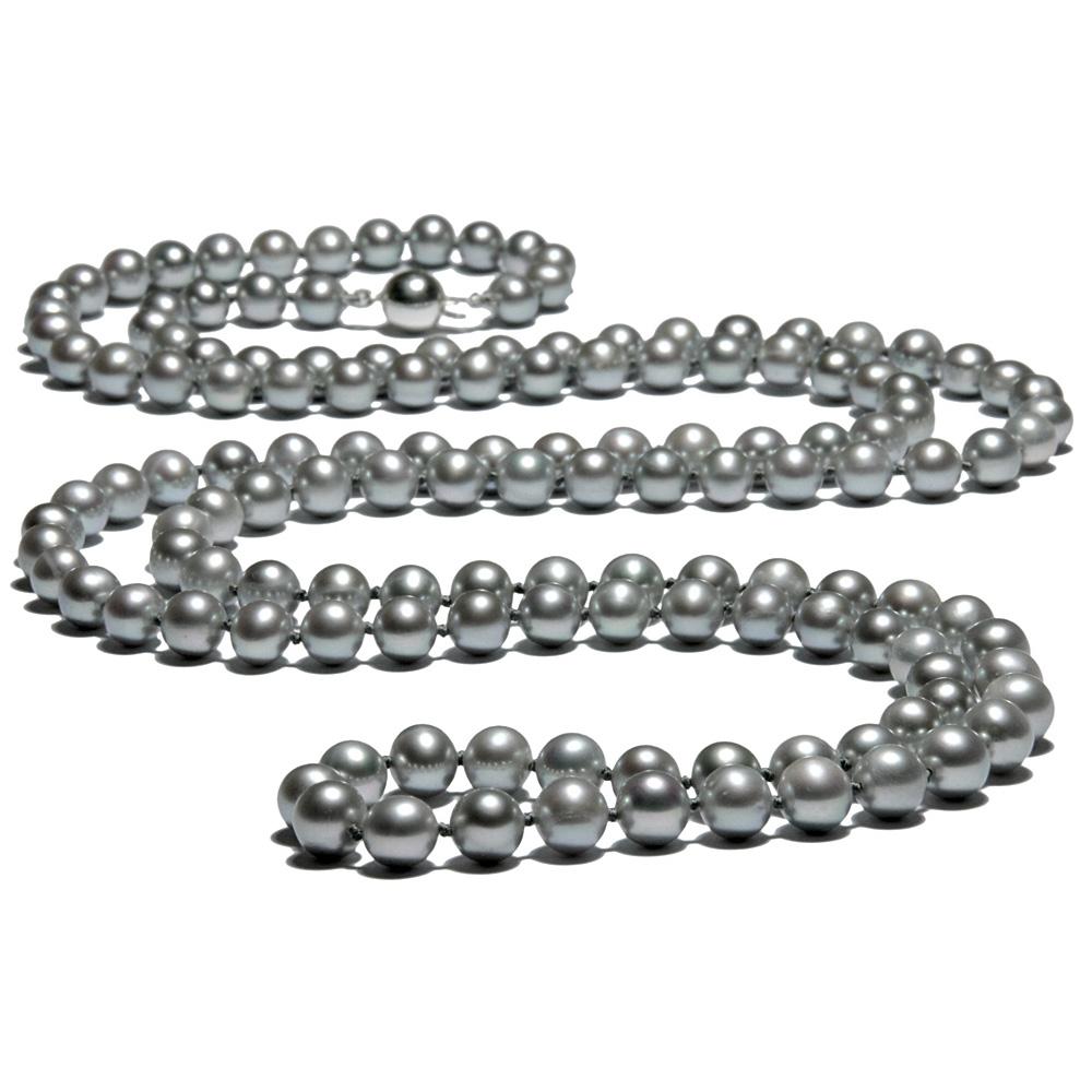 Collier Sautoir Perles de culture Argent 91 cm