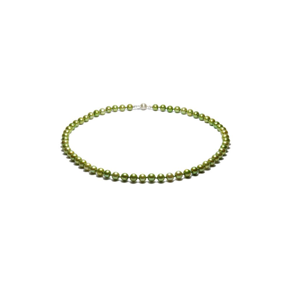 Collier Perles de culture 41 cm Jade
