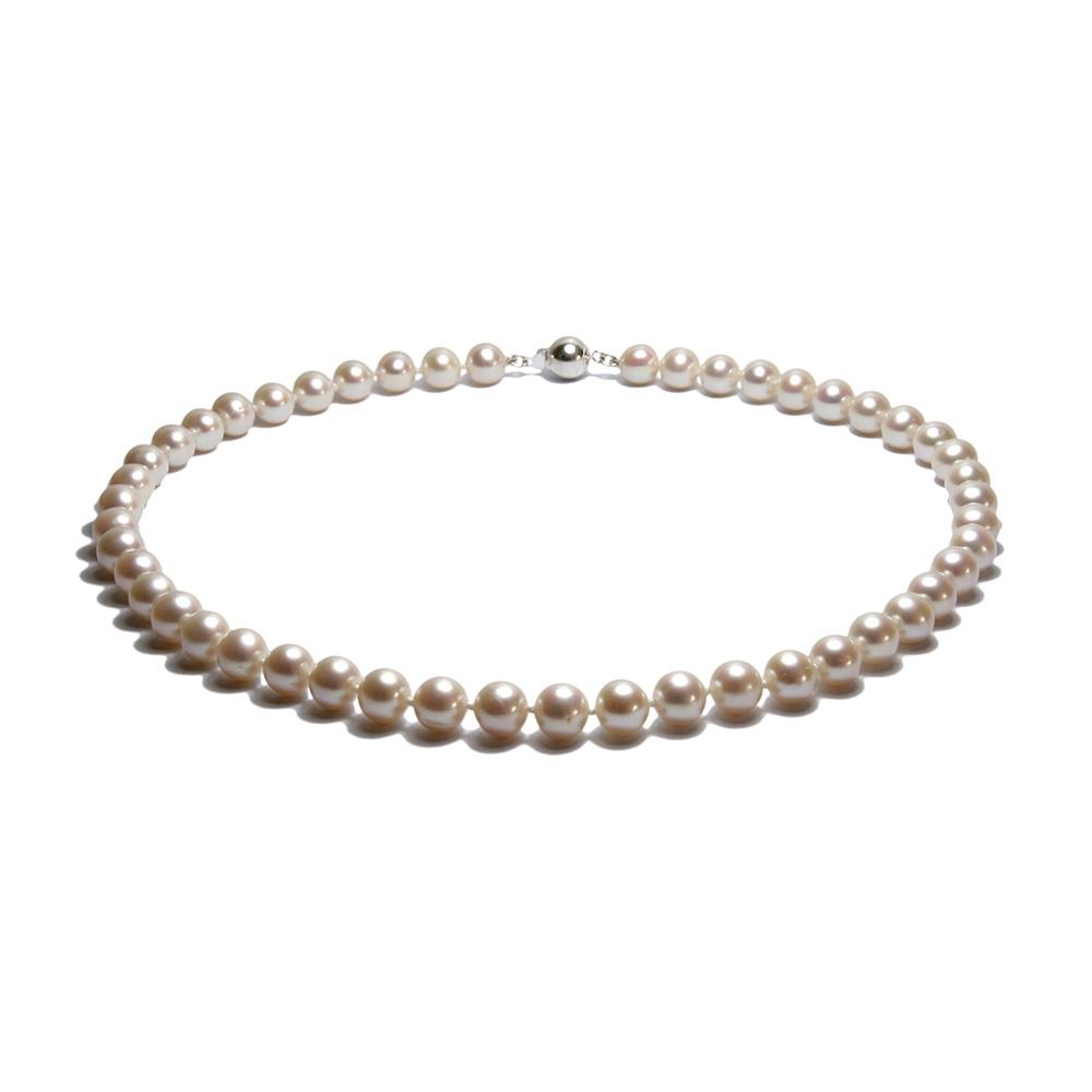 collier ras du cou femme perles de culture d 39 eau douce blanches et argent 9 ebay. Black Bedroom Furniture Sets. Home Design Ideas