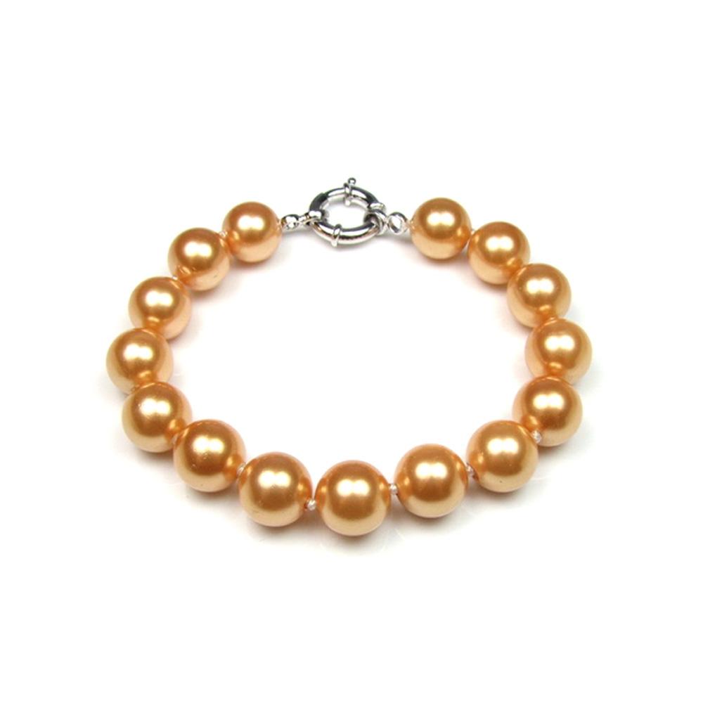 bracelet perles couleur or et argent 925 bracelets blue pearls. Black Bedroom Furniture Sets. Home Design Ideas