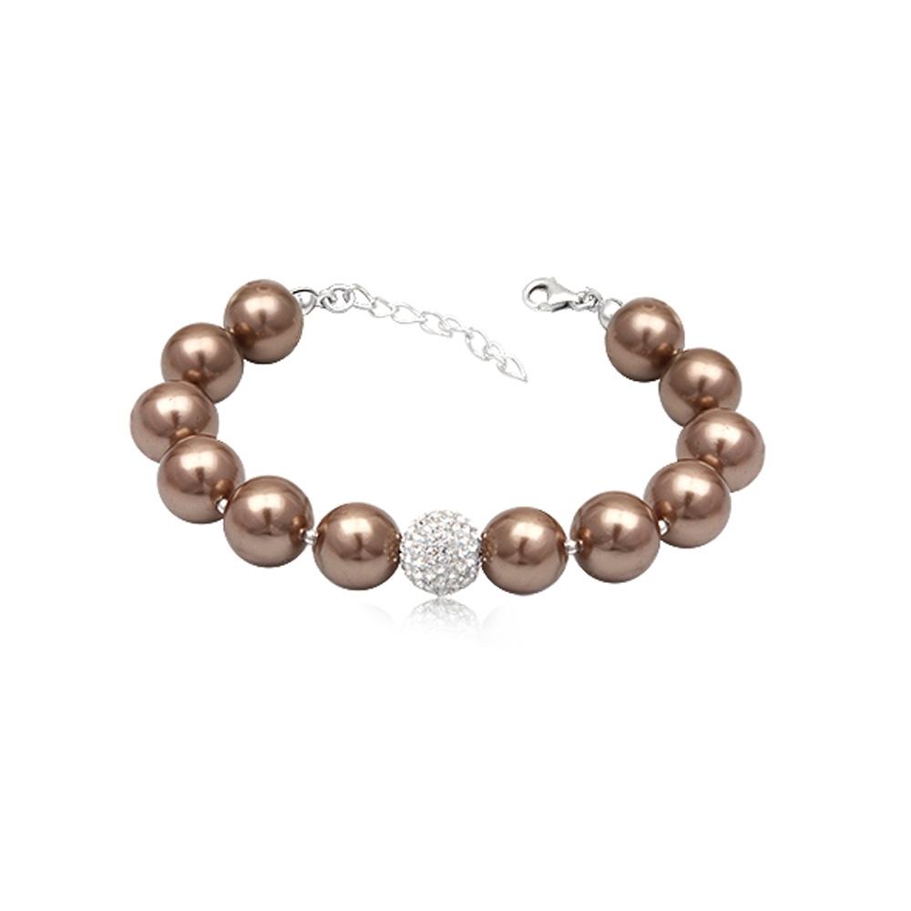 Armbaender für Frauen - Goldbraunes Perlen Armband  - Onlineshop Blue Pearls