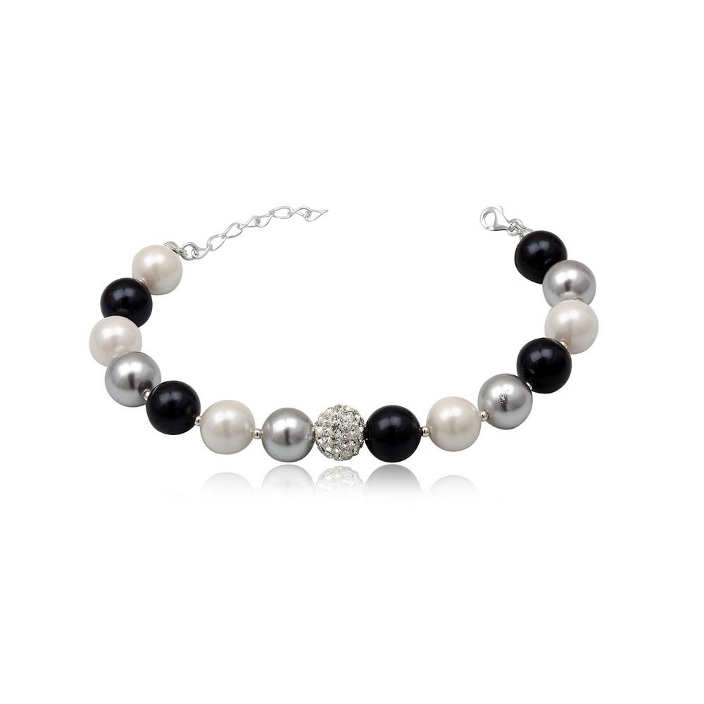 Armbaender für Frauen - Dreifarbiges Perlenarmband  - Onlineshop Blue Pearls
