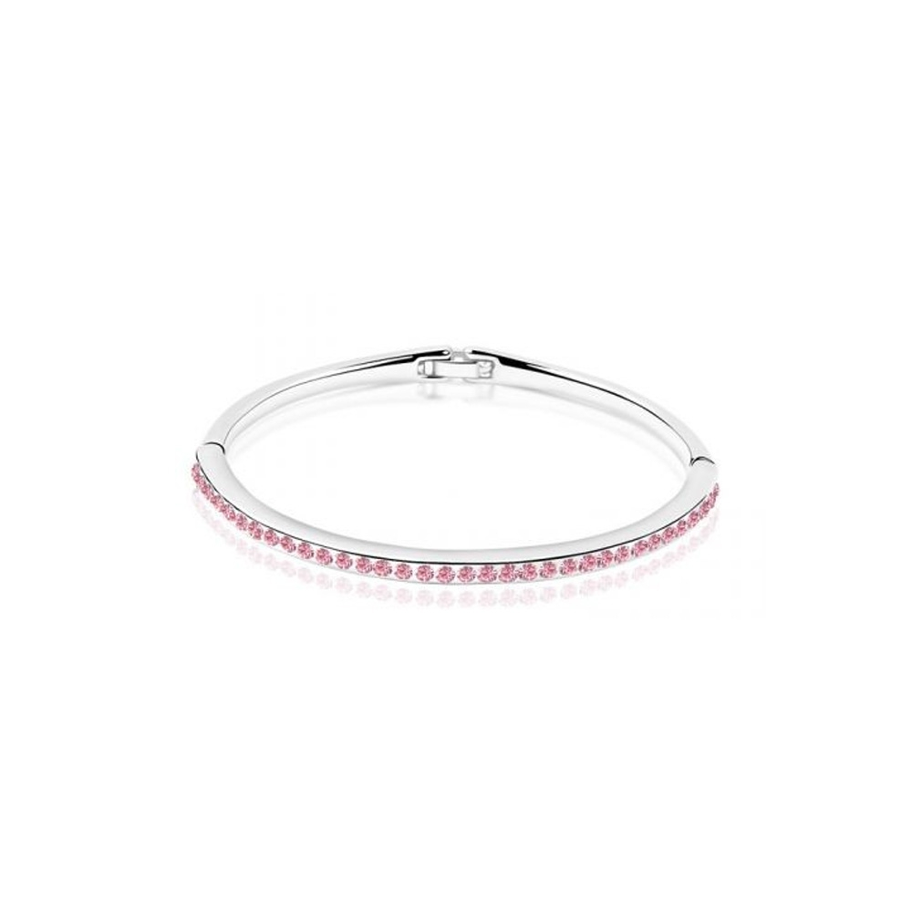 children-bangle-bracelet-made-with-a-pink-crystal-from-swarovski-and-white-gold-plated