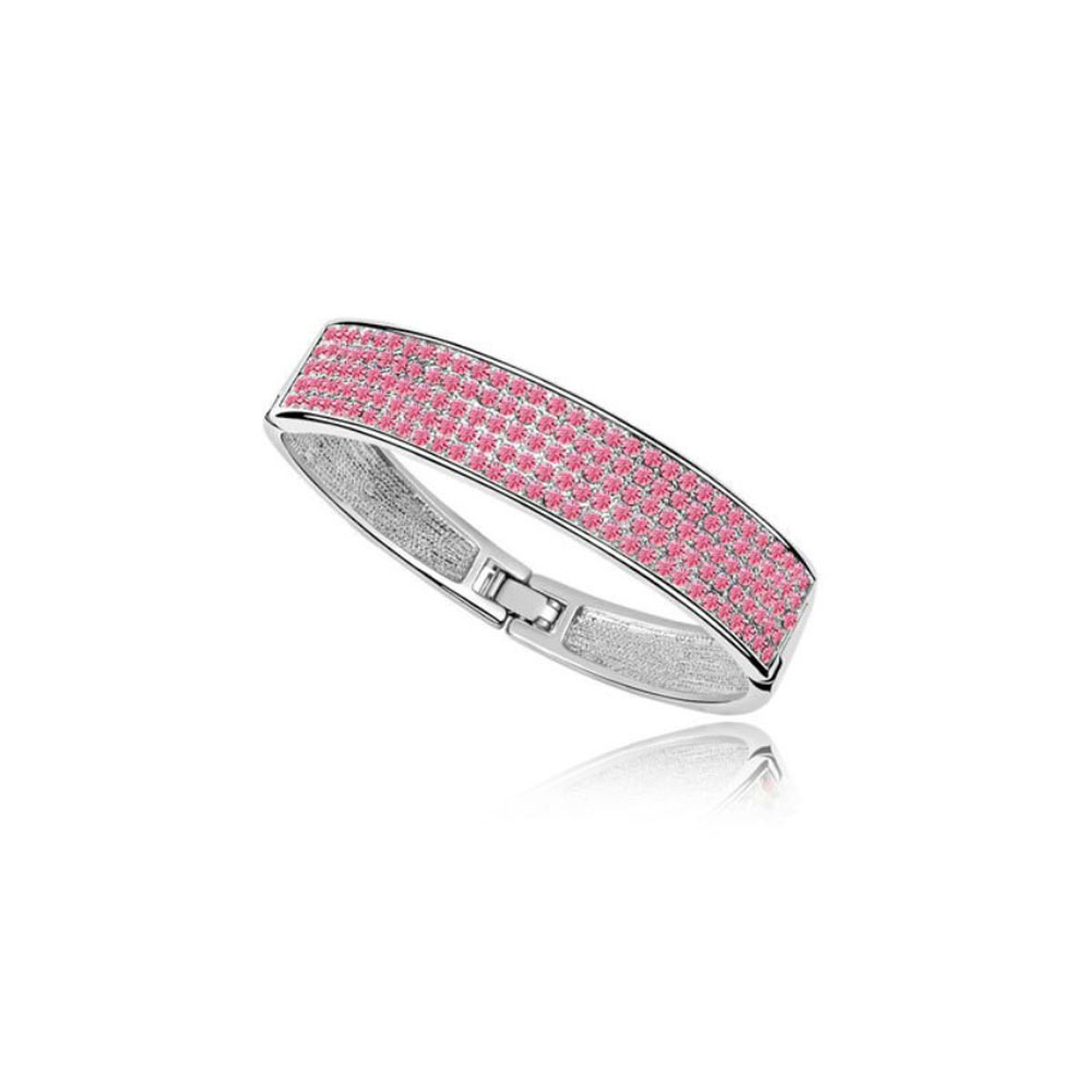 bangle-bracelet-made-with-a-pink-crystal-from-swarovski-and-white-gold-plated