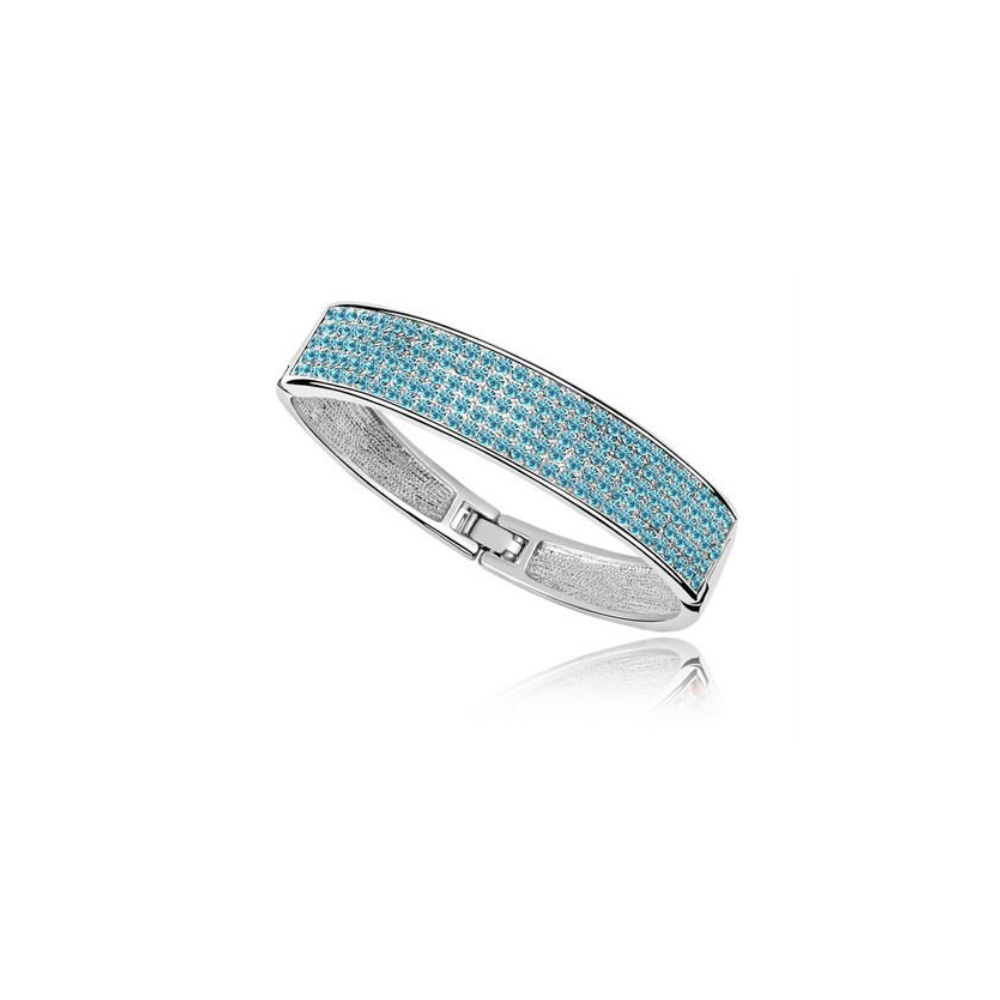 bangle-bracelet-made-with-a-blue-crystal-from-swarovski-and-white-gold-plated