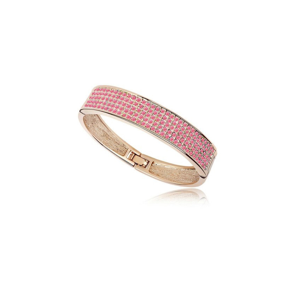 bangle-bracelet-made-with-a-pink-crystal-from-swarovski-and-yellow-gold-plated