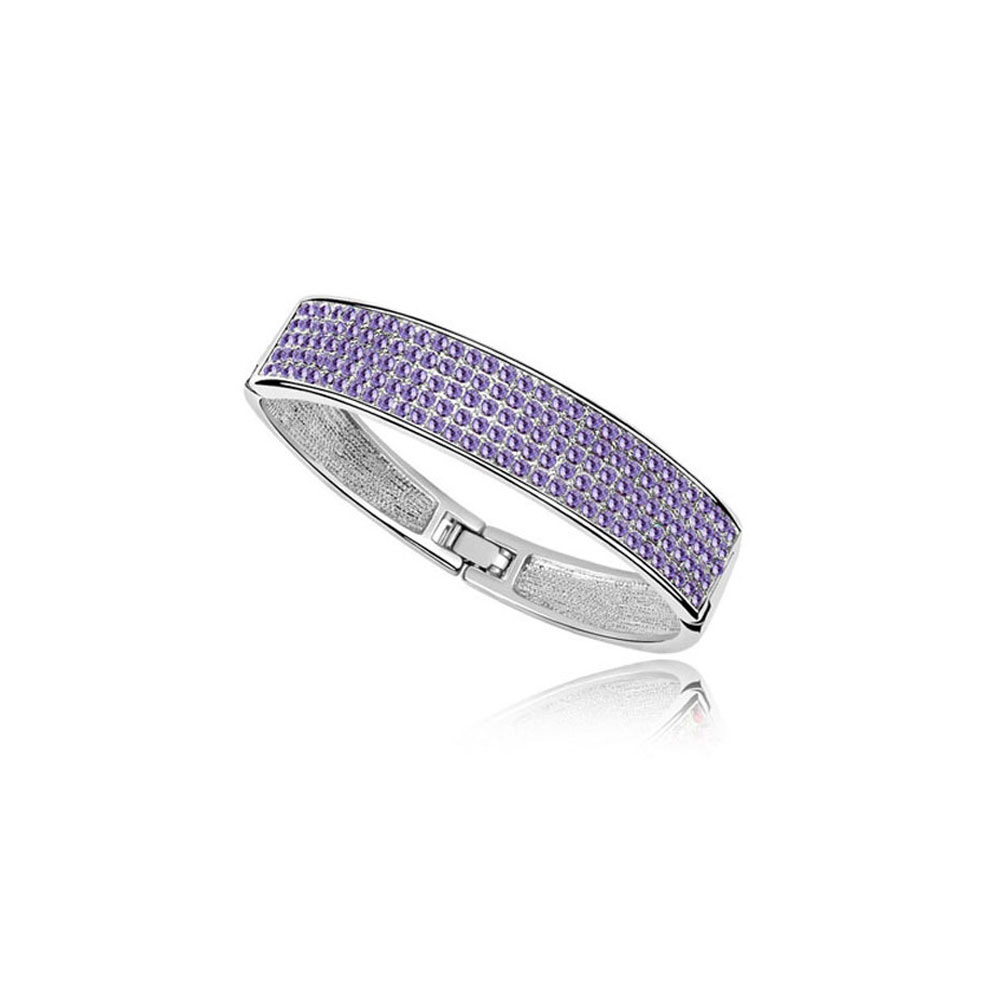 bangle-bracelet-made-with-a-purple-crystal-from-swarovski-and-white-gold-plated, 35.00 EUR @ blue-pearls