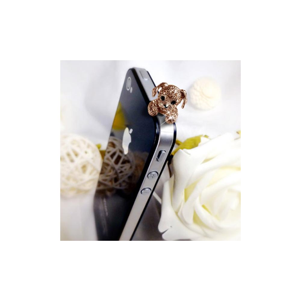 Accessoire Bijoux SmartPhone Chiot Or Rose et Cristal