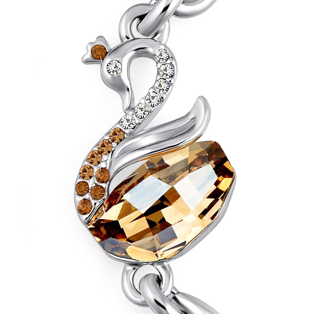 armband schwan gold in kristall swarovski elemente und. Black Bedroom Furniture Sets. Home Design Ideas