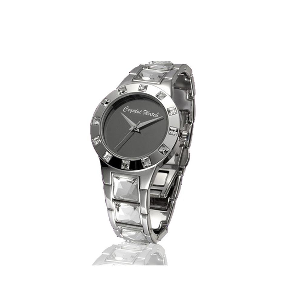 Uhr mit echten weißen Swarovski Elements | 1943