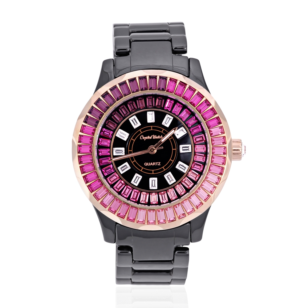 black-ceramic-and-pink-swarovski-crystal-elements-watch