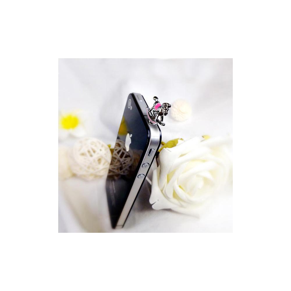 Accessoire Bijoux SmartPhone Cheval a Bascule Rose