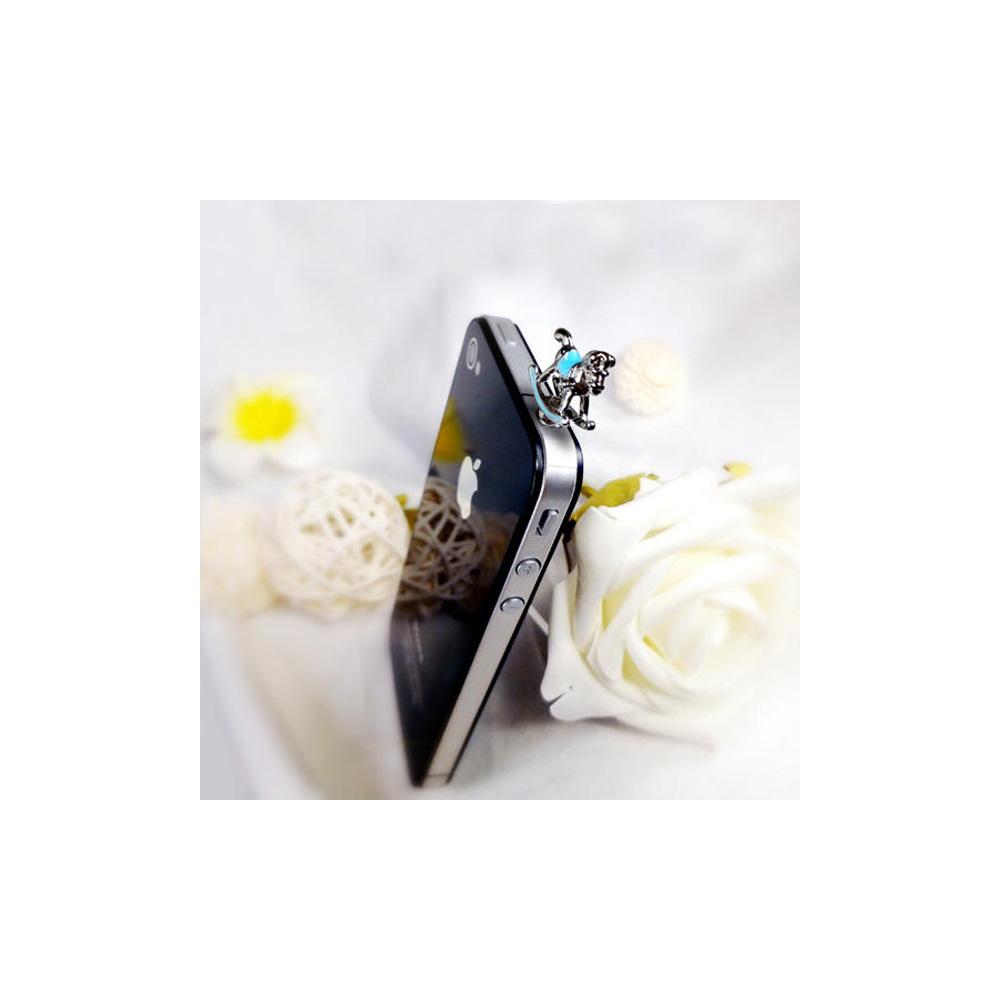 Accessoire Bijoux SmartPhone Cheval à Bascule Bleu