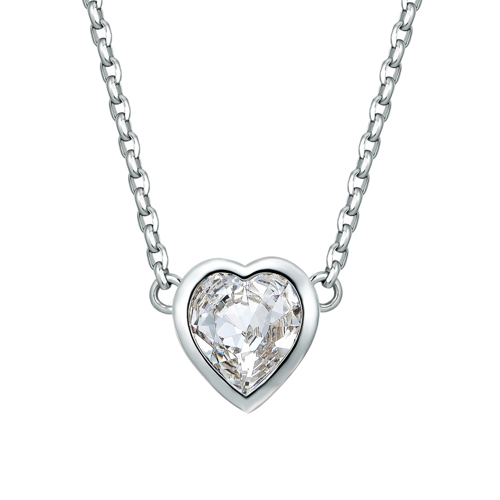 white-swarovski-crystal-elements-and-rhodium-plated-heart-necklace, 34.90 EUR @ blue-pearls