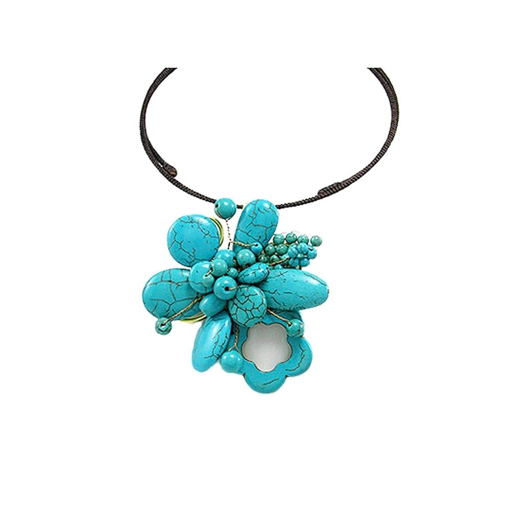 gemstones-turquoise-flower-necklace