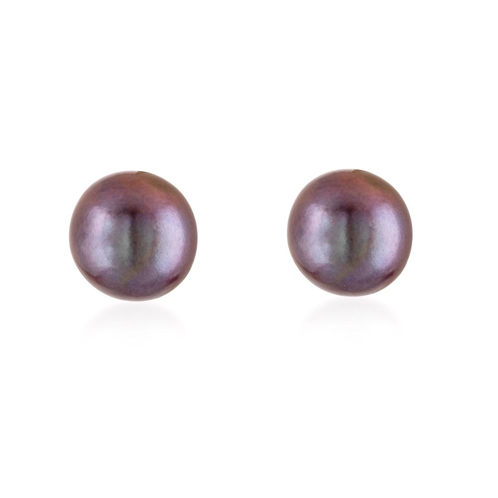 Ohrringe - PerlenOhrringe mit schwarzen Süßwasser Zuchtperlen  - Onlineshop Blue Pearls