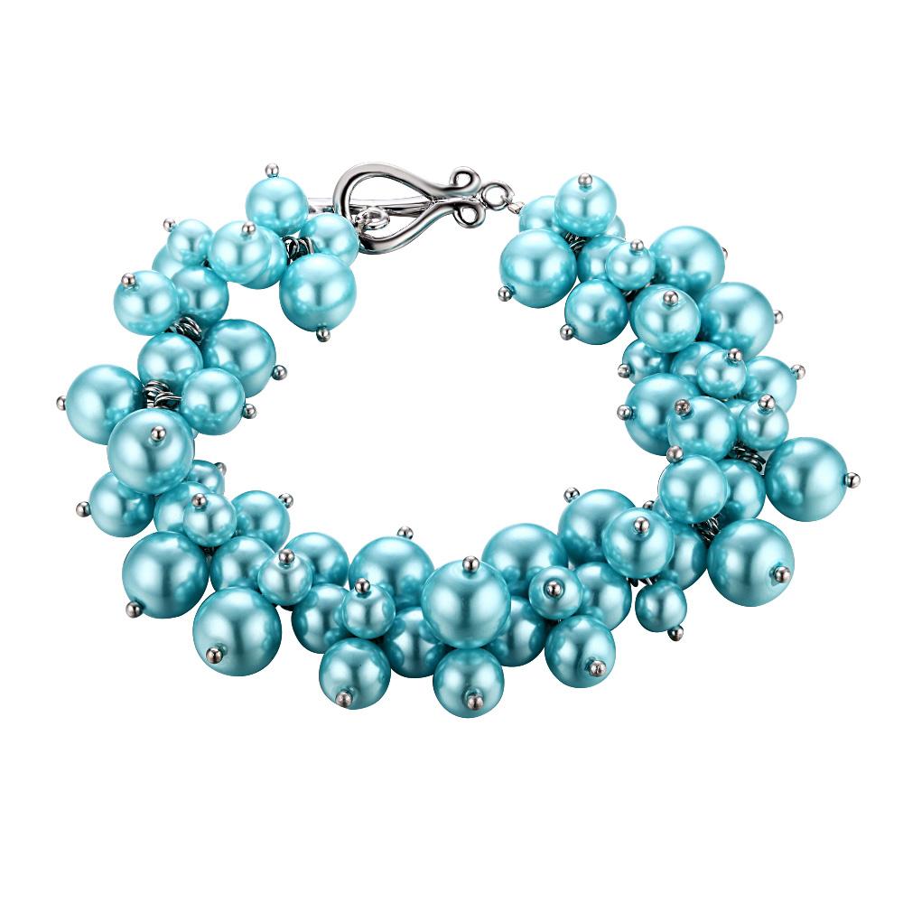 Armbaender für Frauen - Hellblaues Multi Perlen Armband  - Onlineshop Blue Pearls