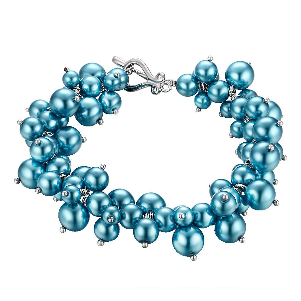 Armbaender - Blaues Multi Perlen Armband  - Onlineshop Blue Pearls