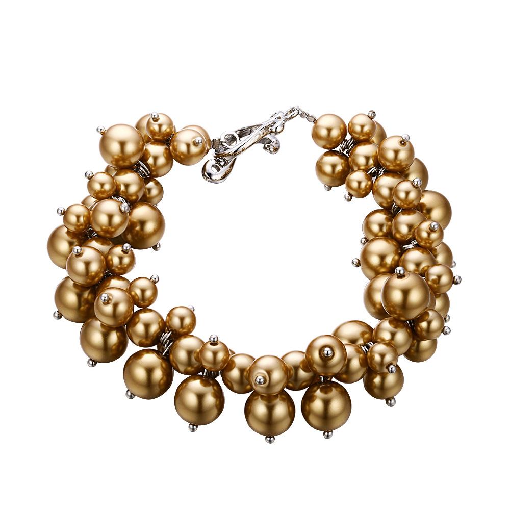Armbaender für Frauen - Goldenes Multi Perlen Armband  - Onlineshop Blue Pearls