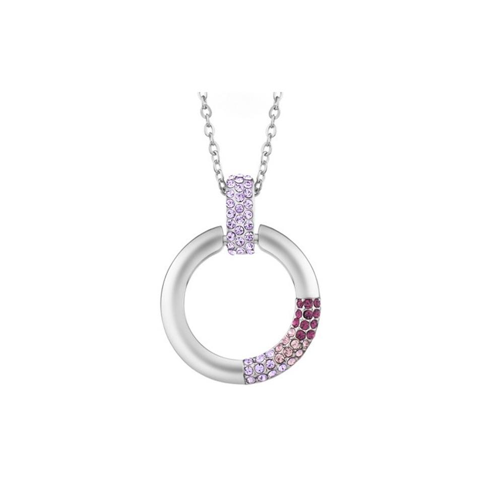 Ketten - Kristallring Anhänger mit violetten Swarovski Elements  - Onlineshop Blue Pearls