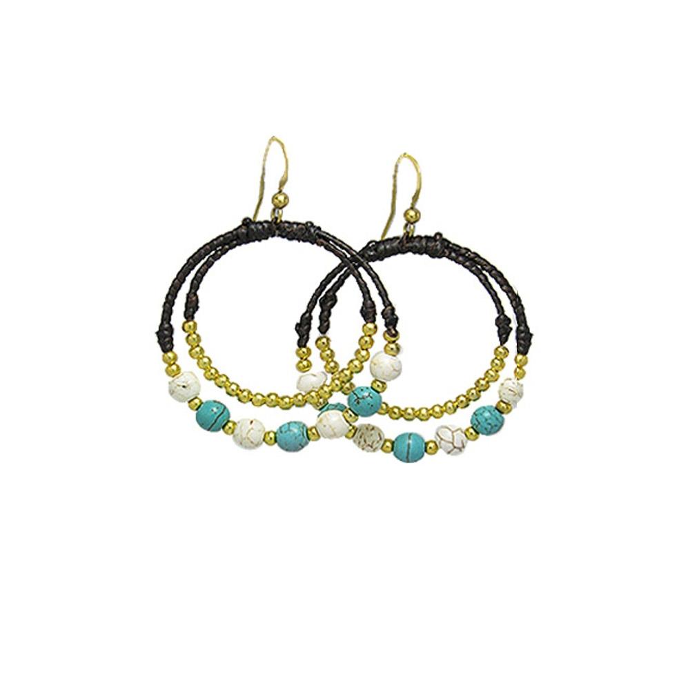 turquoise-and-white-pearl-hoop-earrings