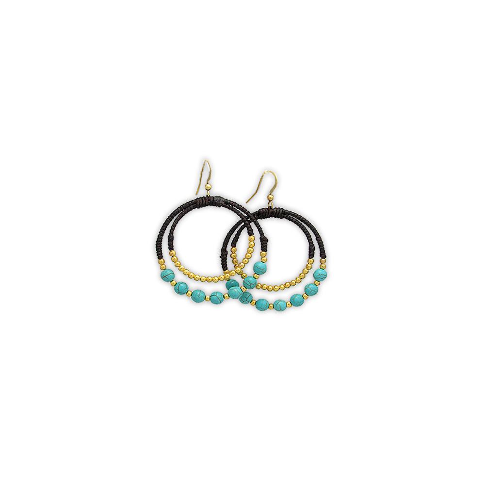 turquoise-pearls-hoop-earrings