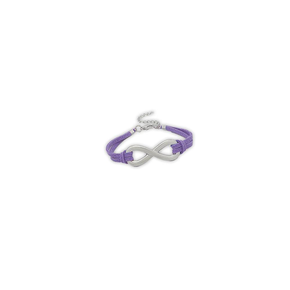 purple-suedin-infinity-bracelet