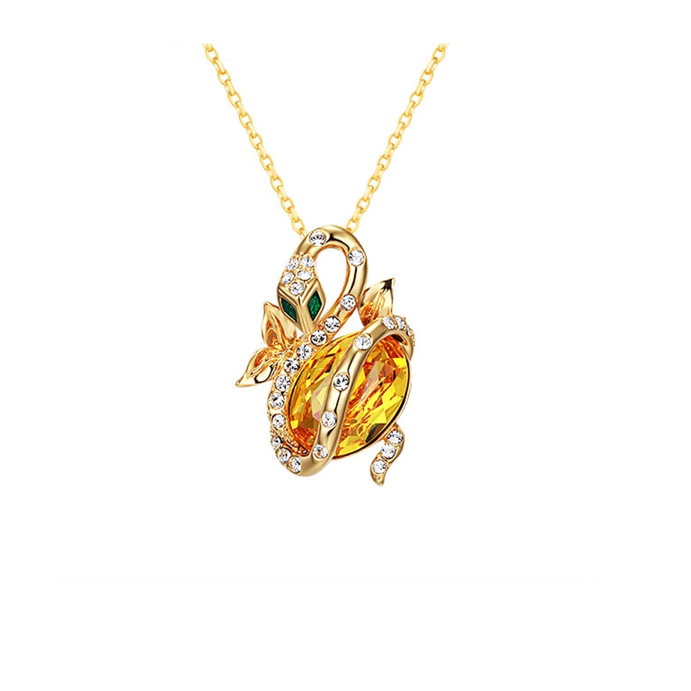 yellow-swarovski-crystal-elements-snake-pendant-brooch-and-yellow-gold-plated