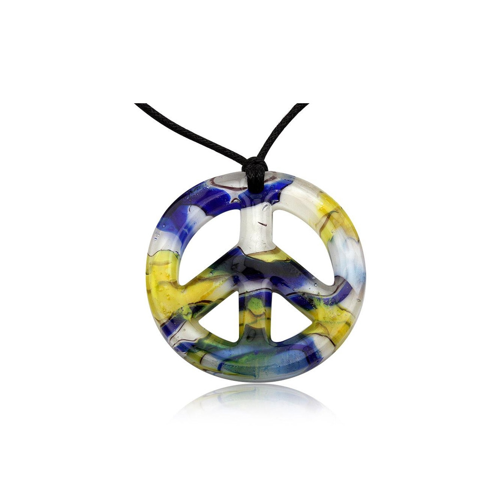 peace-pendant-yellow-murano-glass