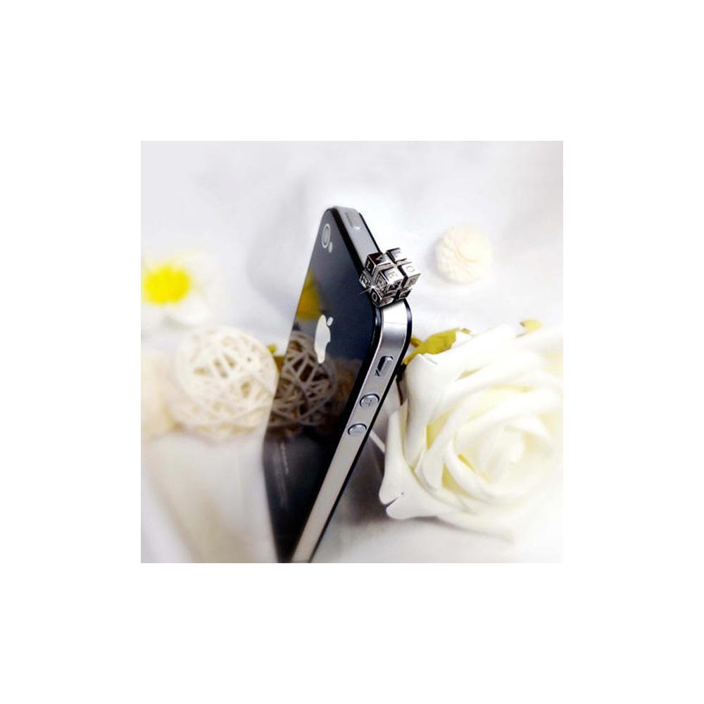Accessoire Bijoux SmartPhone Amour Love Argent et Cristal