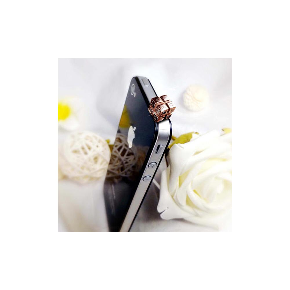 Accessoire Bijoux SmartPhone Amour Love Or Rose et Cristal