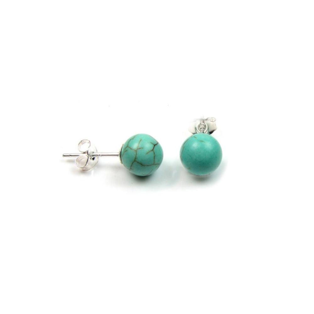 Ohrringe - Türkisfarbene Ohrringe mit 925 Sterlingsilber  - Onlineshop Blue Pearls