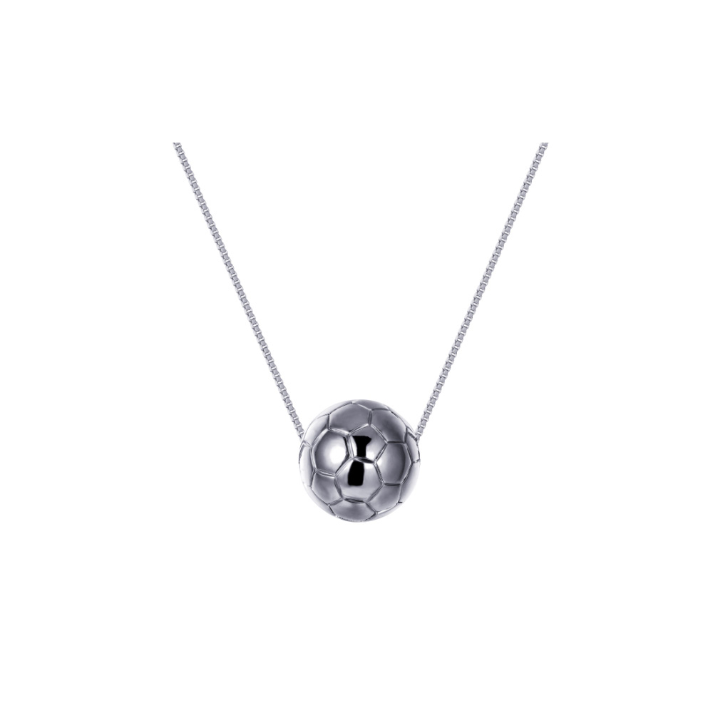 rhodium-plated-football-mixte-necklace