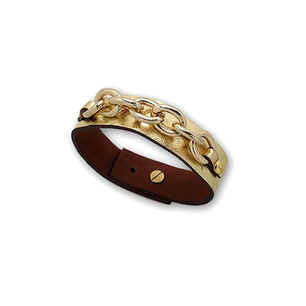 gold-link-leather-strap-bracelet-and-gold-steel