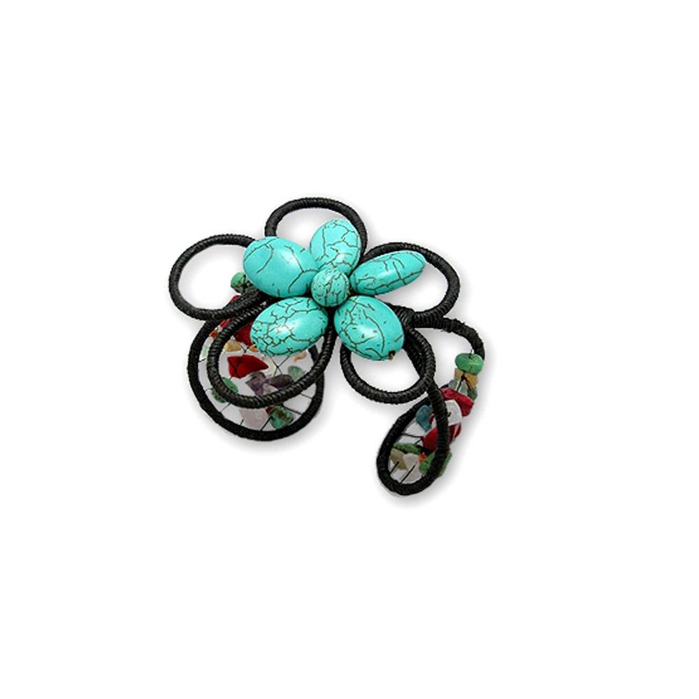 turquoise-gemstones-flower-bracelet