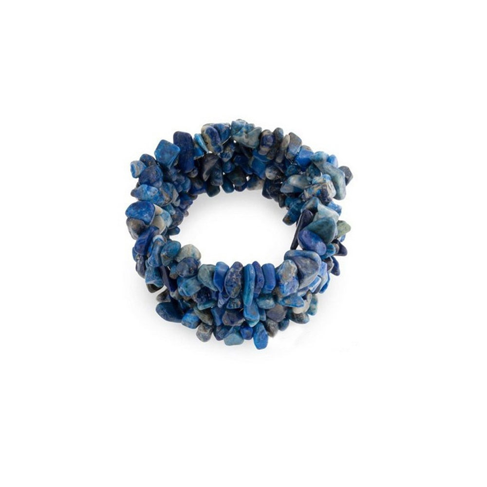 bracelet stretch en lapis lazuli bleu bracelets blue pearls. Black Bedroom Furniture Sets. Home Design Ideas