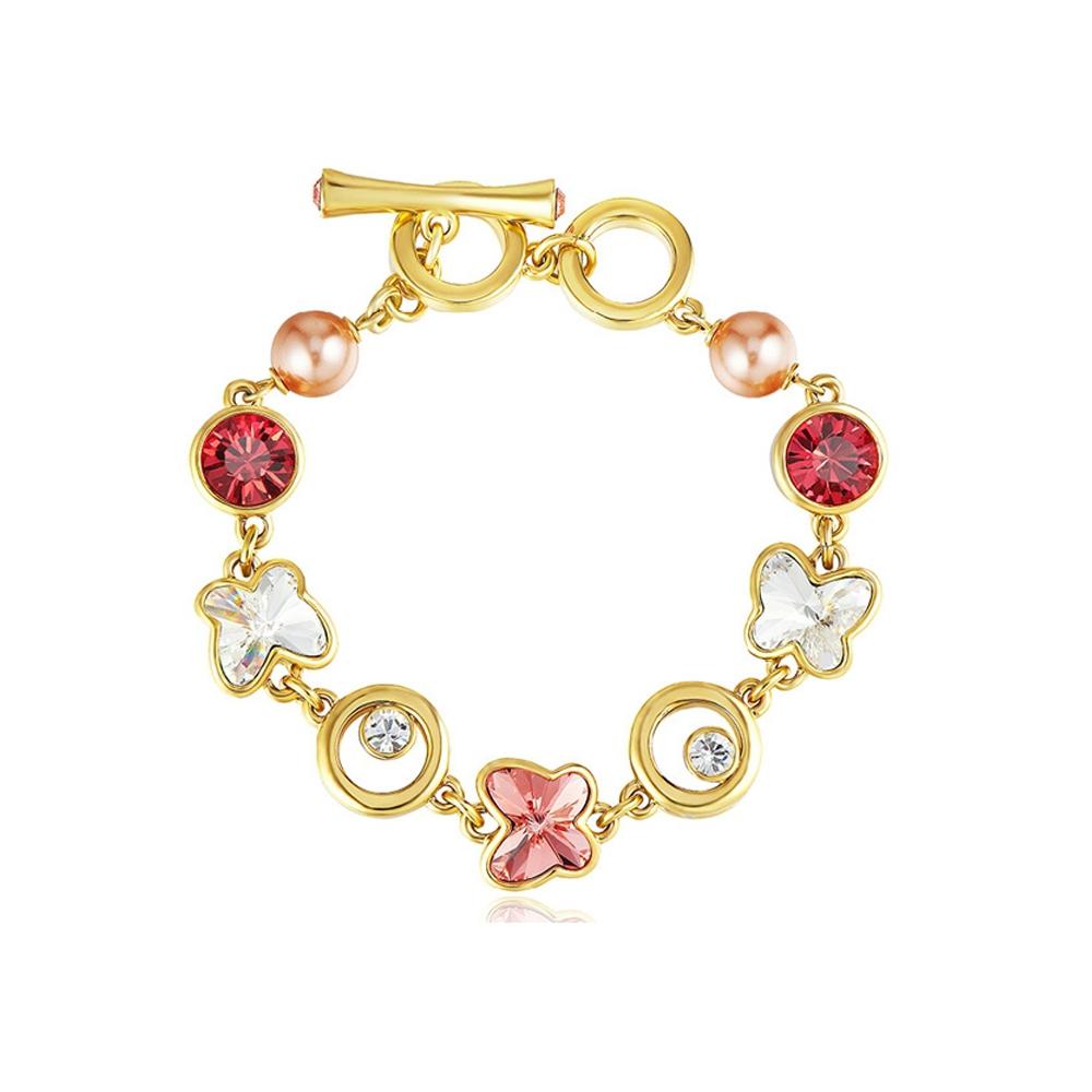 b710e0332ba6 Pulsera Mariposa, cristal Swarovski Elements Rosa y Blanco ...