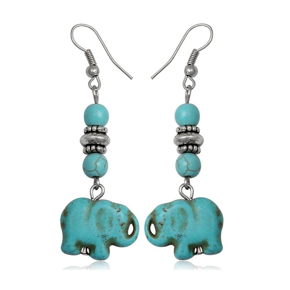 turquoise-elephant-dangling-earrings