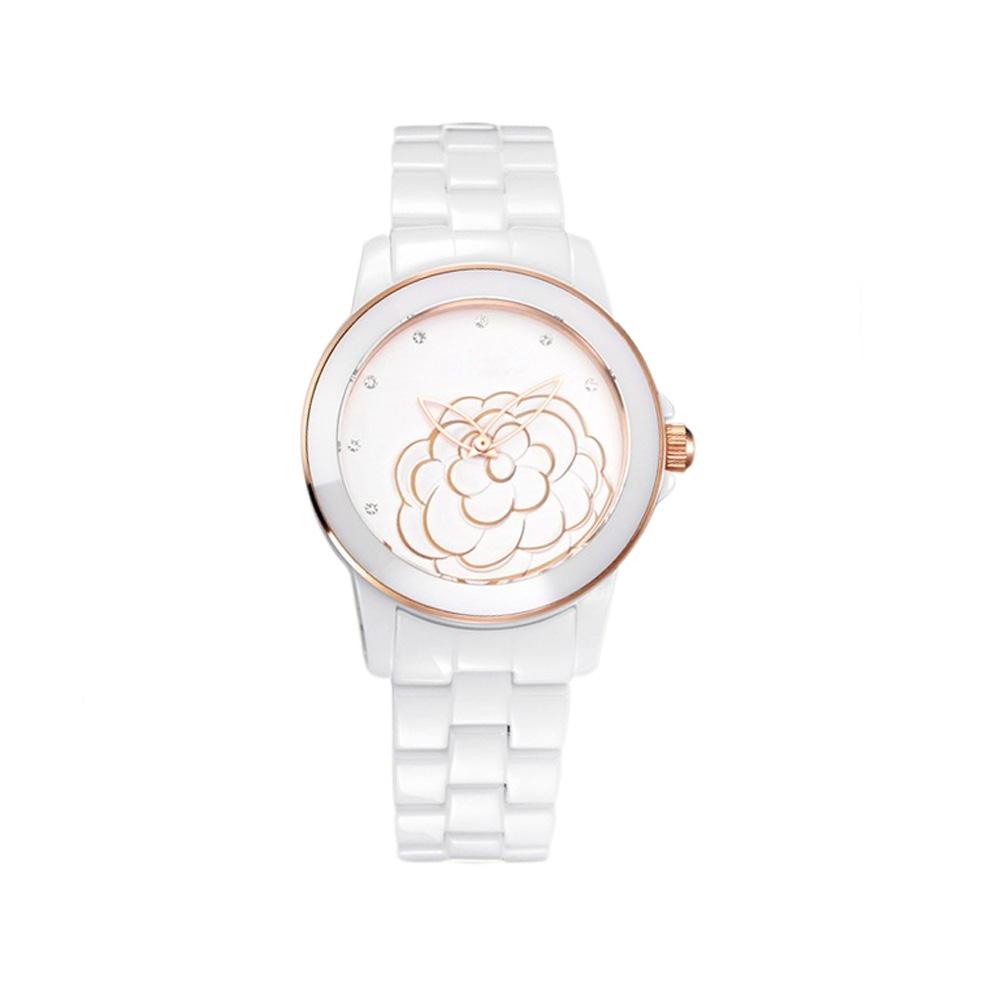 Weiße keramische Uhr | 4741