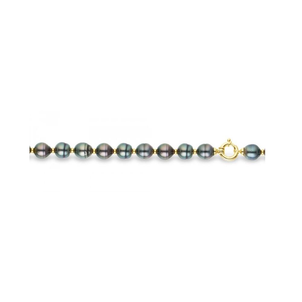 Armbaender für Frauen - Tahitian Perlen Armband und 375 1000 Gelbgold  - Onlineshop Blue Pearls