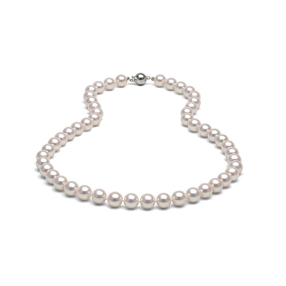Collier Sautoir Perles de culture blanches 71 cm et Argent 925