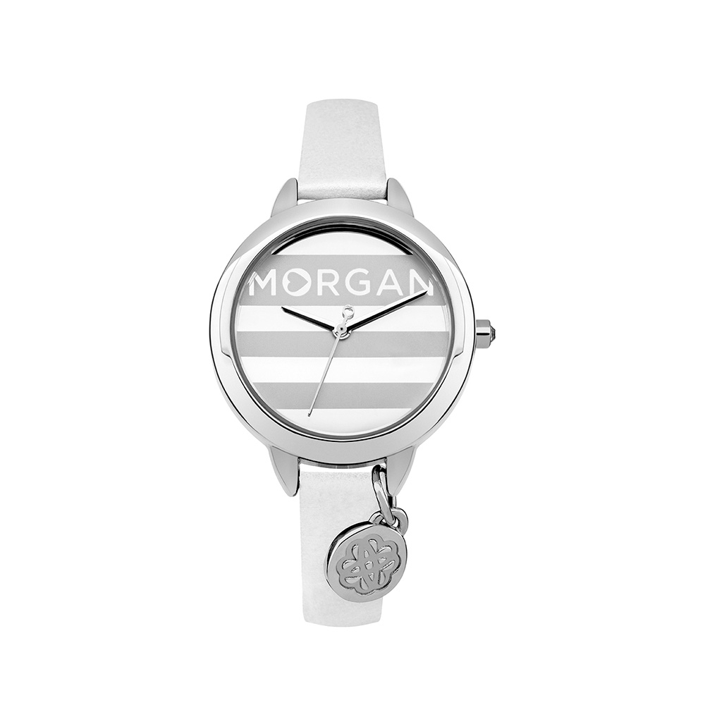 e5f7ffc1d490 Reloj Mujer Morgan y Pulsera cuero Blanco - Relojes - Blue Pearls