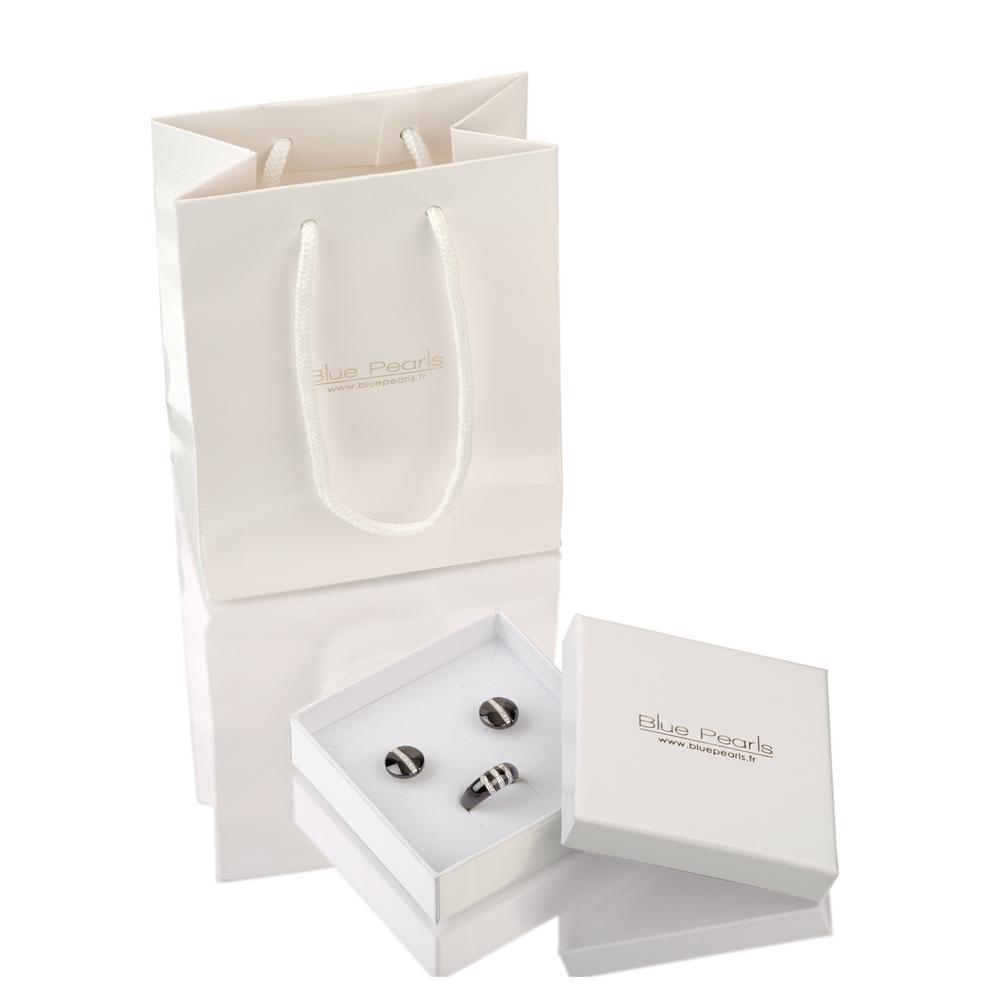 1fdc7240be2 Pulsera Cuero Blanco Perlas y Charms cristales Swarovski Elements. Ref  CRY  E190 J Blanc Doré