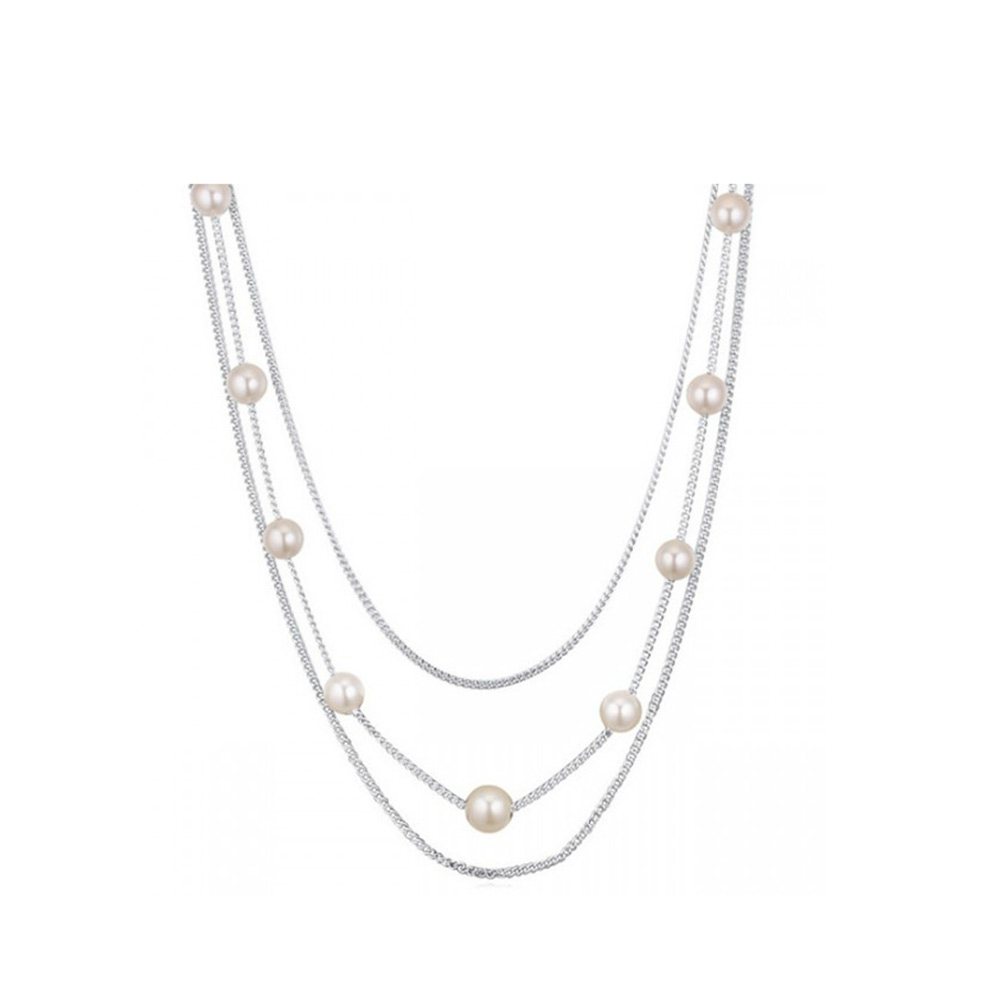 multi-rows-white-pearl-necklace-and-rhodium-plated