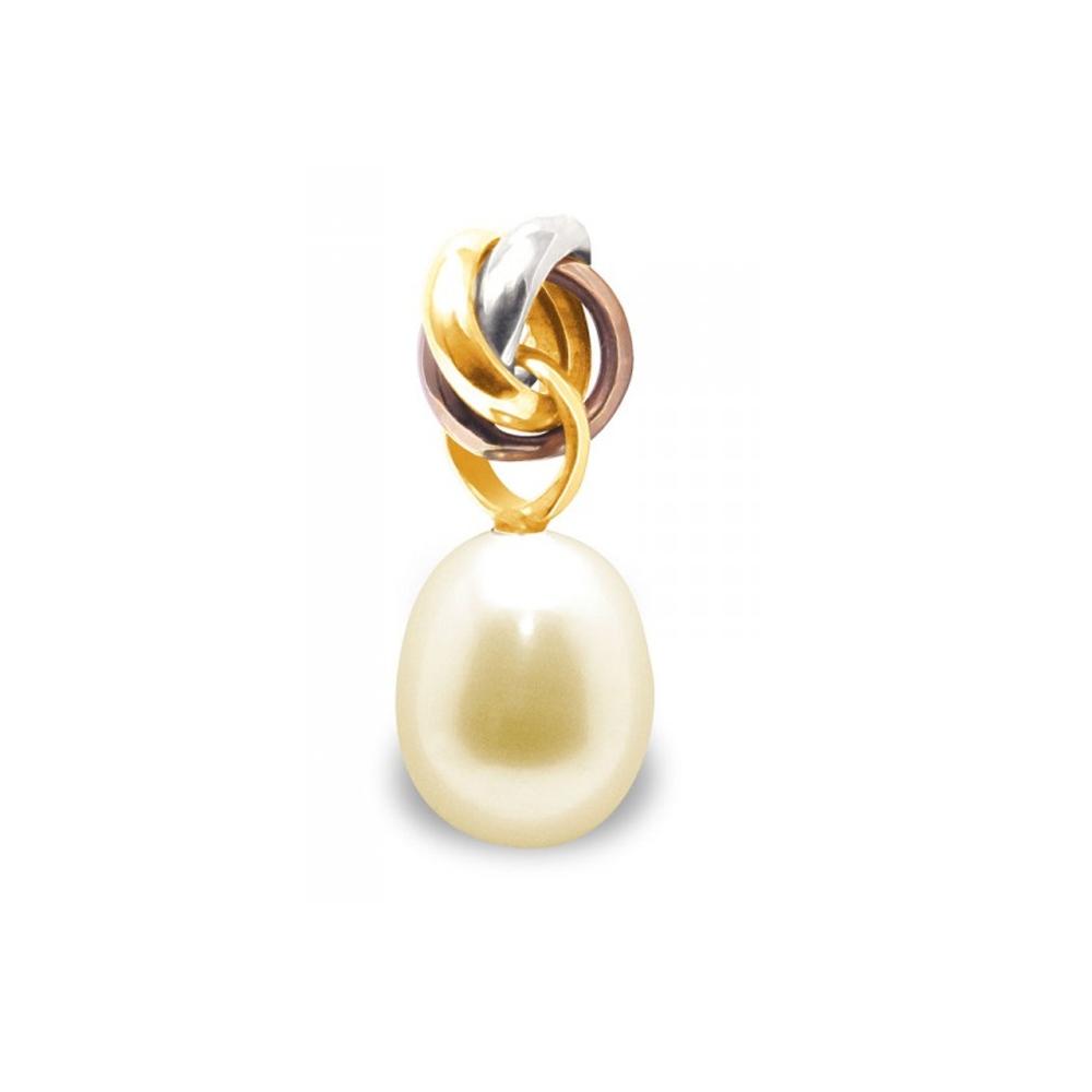 Ketten - Anhänger Golden Süßwasser Zuchtperlen Kultur und 3 gold 750 1000  - Onlineshop Blue Pearls