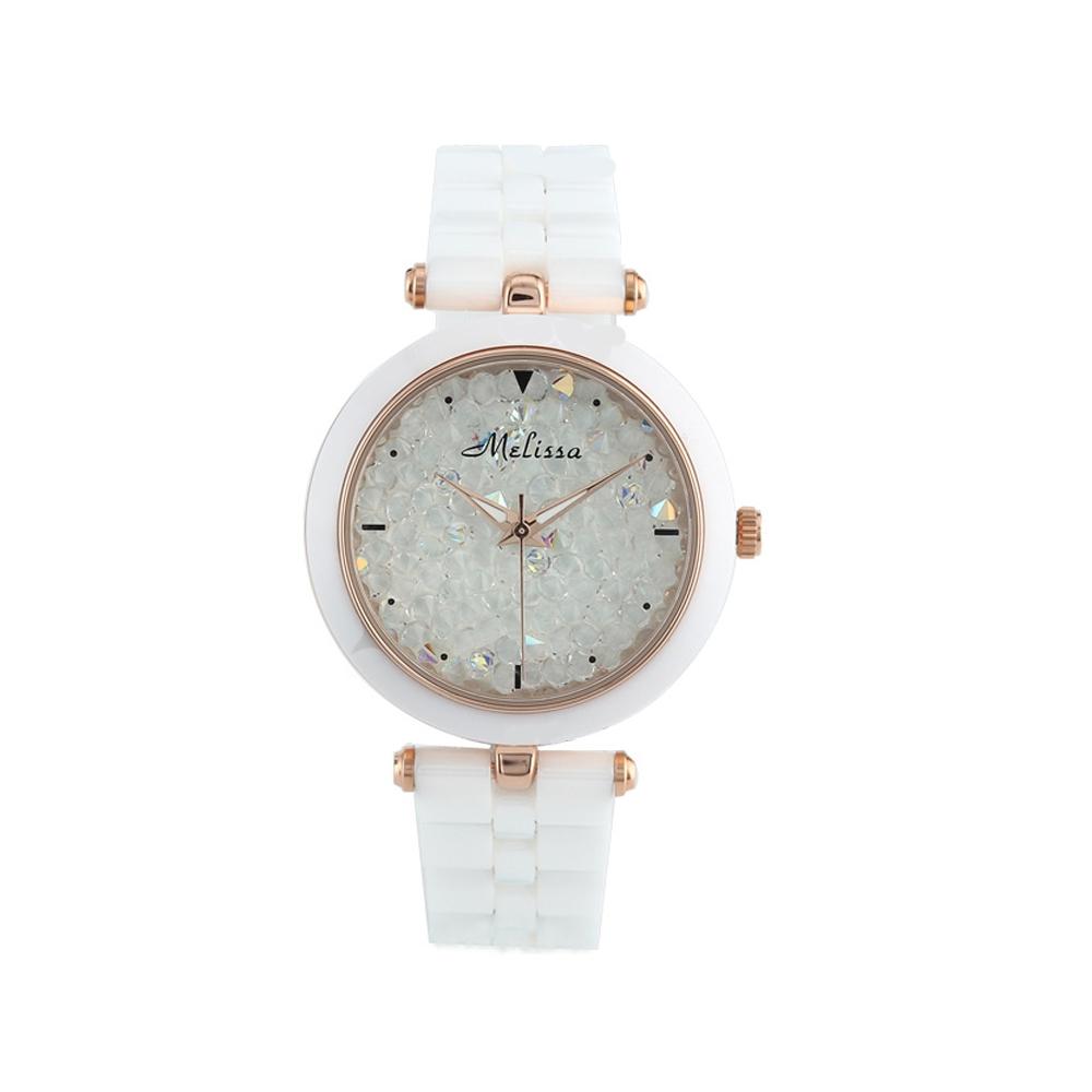 Uhr Kristall Swarovski Elements Weißer Felsen | 5319