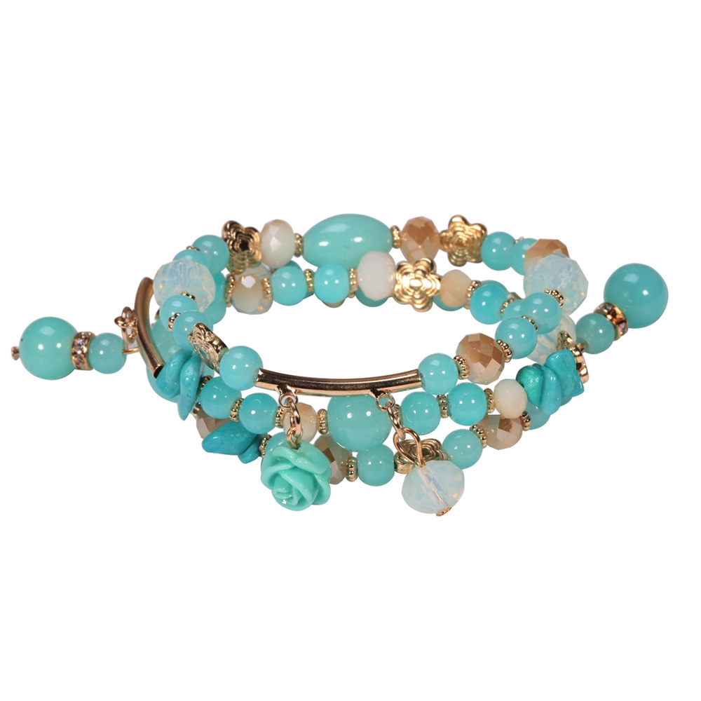 turquoise-pearls-and-crystal-multirows-bracelet