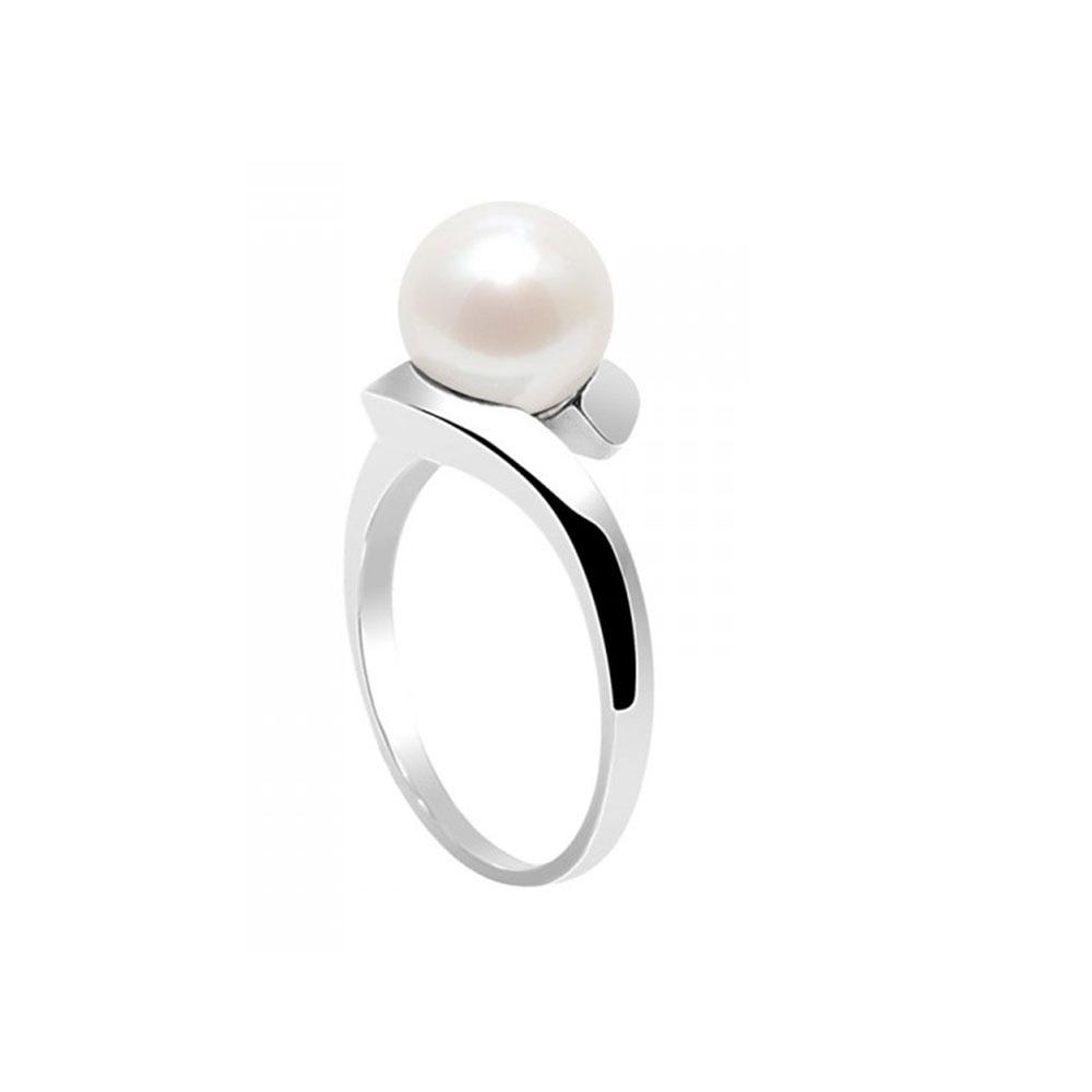 bague perle de culture d 39 eau douce blanche et argent 925 bagues blue pearls. Black Bedroom Furniture Sets. Home Design Ideas