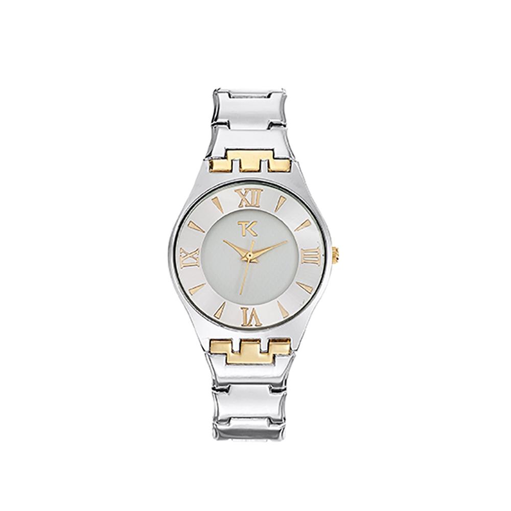 Damenuhr Trendy Kiss Ladonas, Stahlarmband Silber und Gelb Gold | 5775